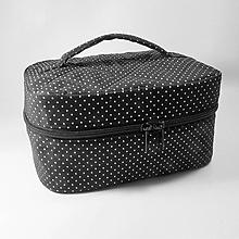 Taštičky - Kozmetický kufrík bavlnený - 10718056_
