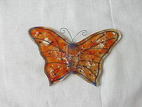 Dekorácie - Motýl - 10715400_