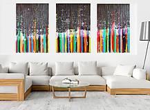 Remember - XXL trojdielny  moderný abstraktný obraz