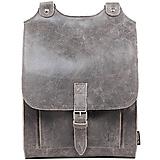 Batohy - Kožený batoh šedý - 10716035_