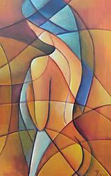 Obrazy - akt, kubismus - 10717749_