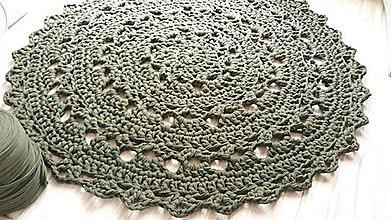 Úžitkový textil - Koberec - okrúhly (Olivová) - 10716752_
