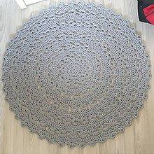 Úžitkový textil - Veľký okrúhly koberec  (Šedá) - 10716771_