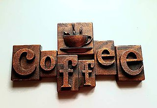 Grafika - Drevorezba Coffee reklama - 10717292_