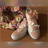Svadobné tenisky :Ružový vánok AB pink crystal