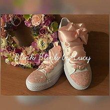 Obuv - Svadobné tenisky :Ružový vánok AB pink crystal - 10716018_