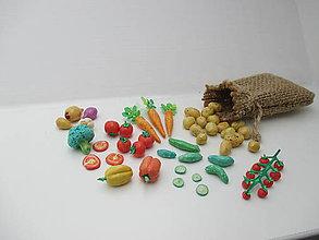 Dekorácie - Mini zelenina s vrecúškom (pre Barbie) - 10717097_