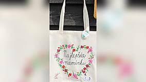 Nákupné tašky - ♥ Plátená, ručne maľovaná taška ♥ (MI2) - 10716763_
