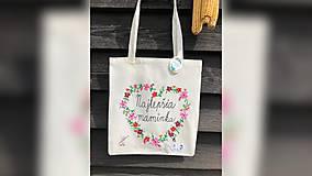 Nákupné tašky - ♥ Plátená, ručne maľovaná taška ♥ (MI2) - 10716764_