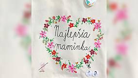 Nákupné tašky - ♥ Plátená, ručne maľovaná taška ♥ (MI2) - 10716766_