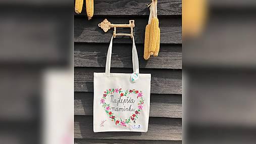 ♥ Plátená, ručne maľovaná taška ♥ (MI2)