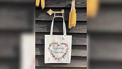 Nákupné tašky - ♥ Plátená, ručne maľovaná taška ♥ (MI2) - 10716762_