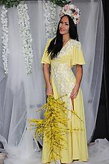 Šaty - Spoločenské šaty s volánovými rukávmi rôzne farby - 10715504_