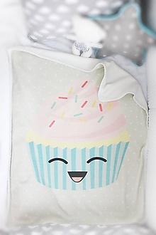 """Textil - Detská deka """"Cupcake"""" - 10715904_"""
