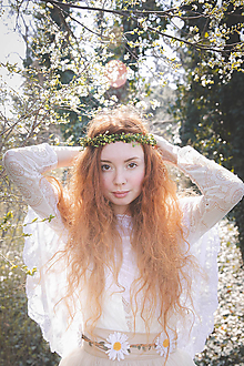 Ozdoby do vlasov - Greenery venček