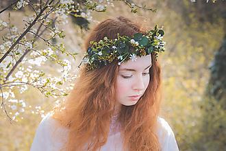 """Ozdoby do vlasov - Greenery venček """"vo vysokej tráve"""" - 10717241_"""