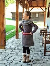 Detské oblečenie - Károvaná sukňa (čiernobiely vzor glenček s jemným červeným prúžkom) - 10715394_