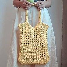 Nákupné tašky - Žltá sieťovka - taška na nákup - 10717605_