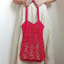 Nákupné tašky - Červená sieťovka II. - 10717683_