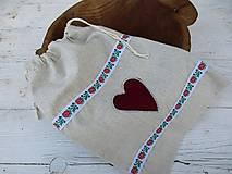 Úžitkový textil - FOLK vrecko - 10716885_