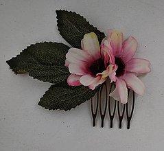 Ozdoby do vlasov - Ružovkastý minihrebienok - 10716149_