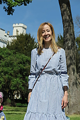 Šaty - Šaty na dojčenie - MODRÝ FOLKLÓR - 10716945_