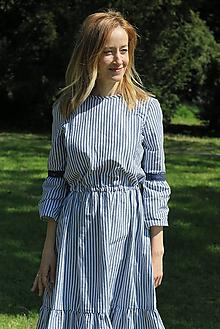 Šaty - Šaty na dojčenie - MODRÝ FOLKLÓR - 10716934_