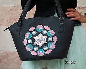 Kabelky - Kožená kabelka Mandala - 10717391_