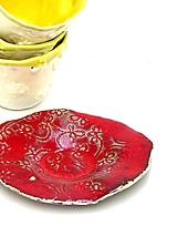 Nádoby - červený tanierik - 10716569_