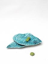 tanier list tyrkysový