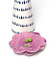 Nádoby - tanierik fialový kvet s vtáčikom  - 10716671_