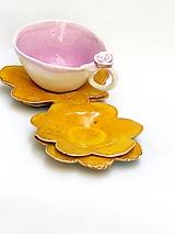 Nádoby - tanierik kvet (Žltá) - 10716697_