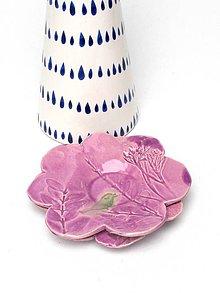 Nádoby - tanierik kvet (Fialová) - 10716680_