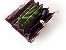 Peňaženky - Peňaženka s priehradkami Dubové lístie - 10716840_