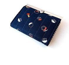 Peňaženky - Peňaženka s priehradkami  Minimalistická geometria - 10716855_