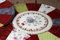 Úžitkový textil - prestierania s vtáčikmi - 10715583_