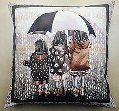 Úžitkový textil - Povlak na vankúš - V daždi - 10715544_