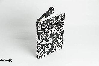 Papiernictvo - Obal na knihu otvárací - čiernobiely elegán - 10716776_