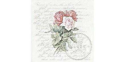 """Papier - Servítka """"Vintage ruže na písme"""" 80083 - 10716948_"""