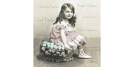 "Papier - Servítka ""Vintage Happy Easter"" 80029 - 10716983_"