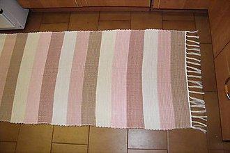Úžitkový textil - Tkaný koberec hnedo-ružový - 10718012_