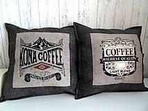 Úžitkový textil - Coffee ... vankúše No.2 - 10718771_
