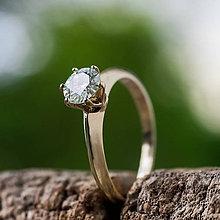 Prstene - Ako požiadať princeznú o ruku  (v žltom zlate) - 10718622_