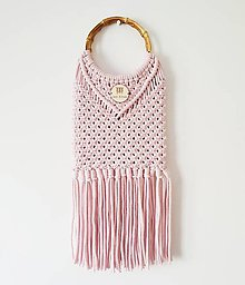 "Kabelky - Makramé kabelka ""Santorini"" (skladom vo farbe baby pink) - 10719459_"