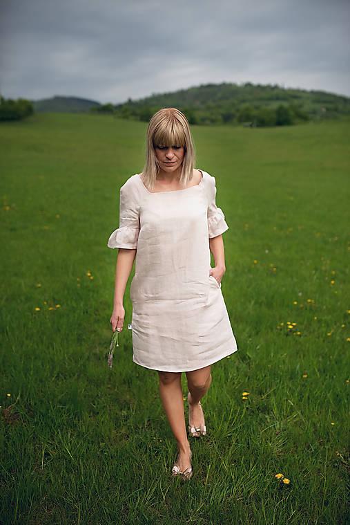 Šaty - Ľanové šaty - 10720096_