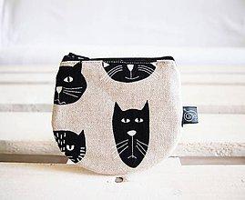 Peňaženky - Peňaženky režné - mačky - 10718323_