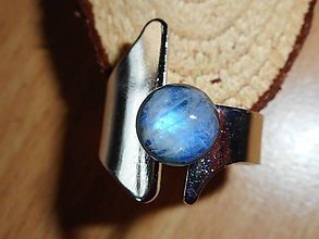 Prstene - ring with moon stone-mesačný kameň - 10718125_