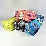 Taštičky - Patchwork kozmetická taštička boxy - 10718423_