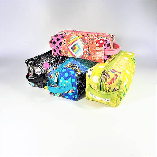 968658c032 Patchwork kozmetická taštička boxy   TvoreNina - SAShE.sk - Handmade ...