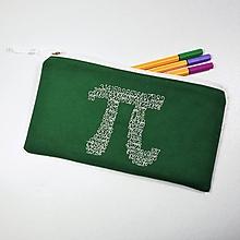 "Taštičky - Peračník matematický ,,pí"" π tmavozelený - 10720242_"